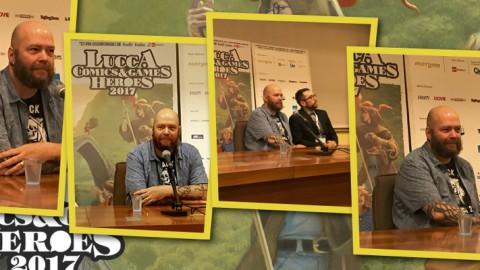 Jason Aaron, la conferenza stampa a Lucca Comics & Games 2017