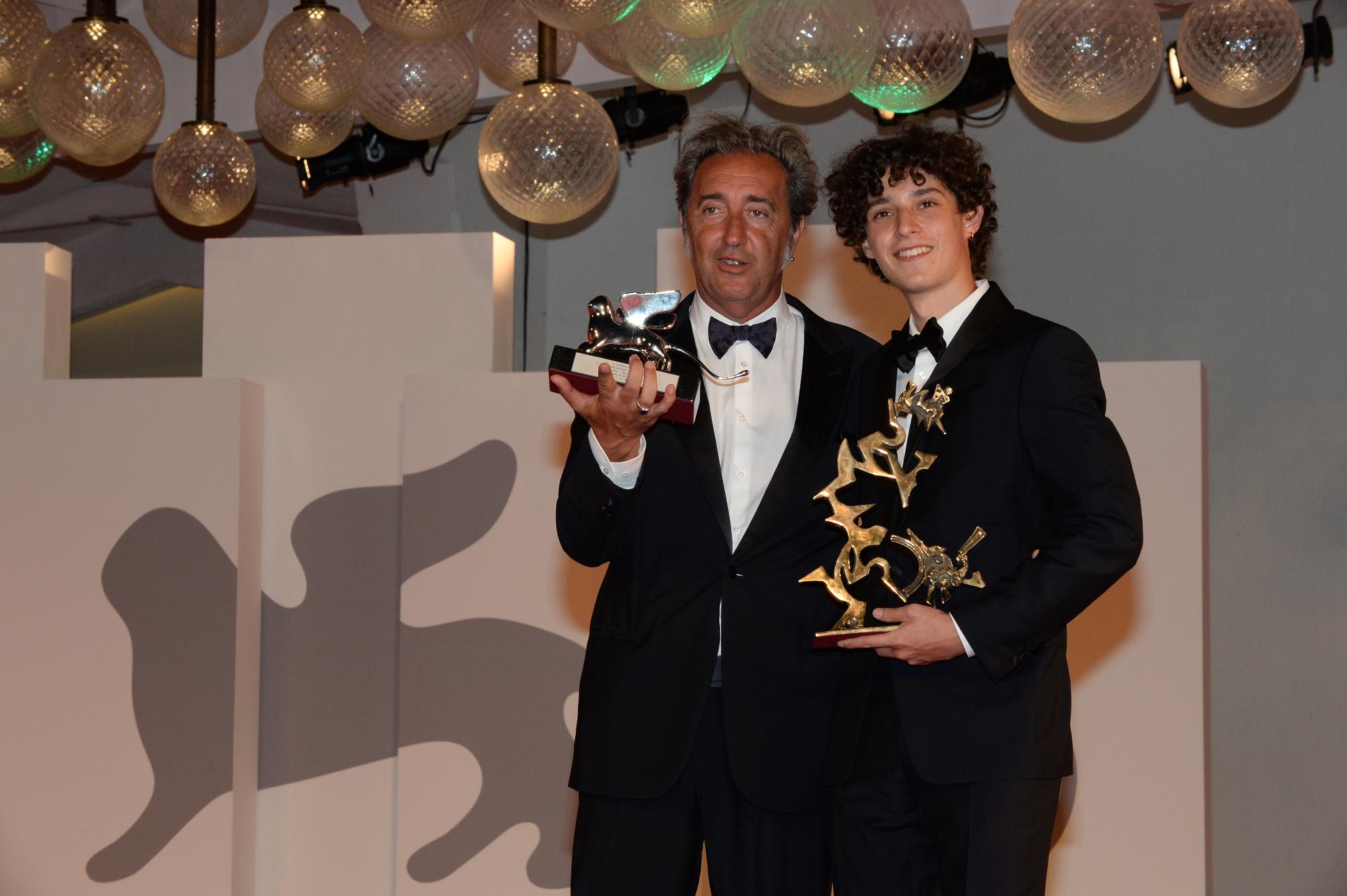 Paolo Sorrentino e Filippo Scotti