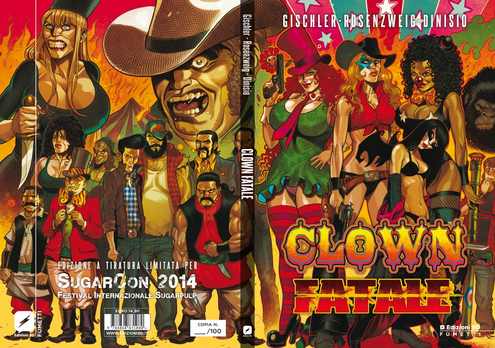 Anteprima nazionale e variant cover di Clown Fatale alla SugarCon 2014