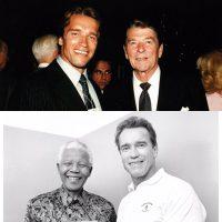 Due dei miei eroi, Ronald Reagan e Nelson Mandela.