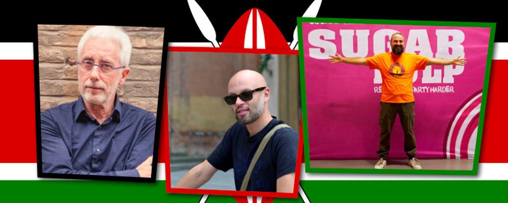 I nostri tre uomini a Nairobi per il workshop sul Romanzo Storico