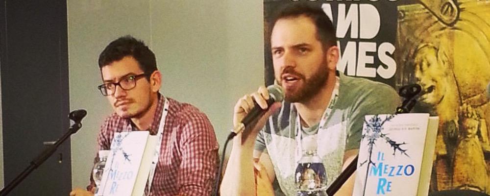 Joe Abercrombie e Edoardo Rialti a presentare Il Mezzo Re Mondadori a Lucca Comics 2014