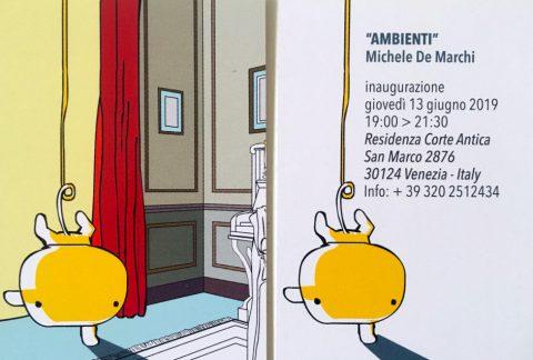 A Venezia per la vernice di Ambienti, la nuova mostra di Michele de Marchi