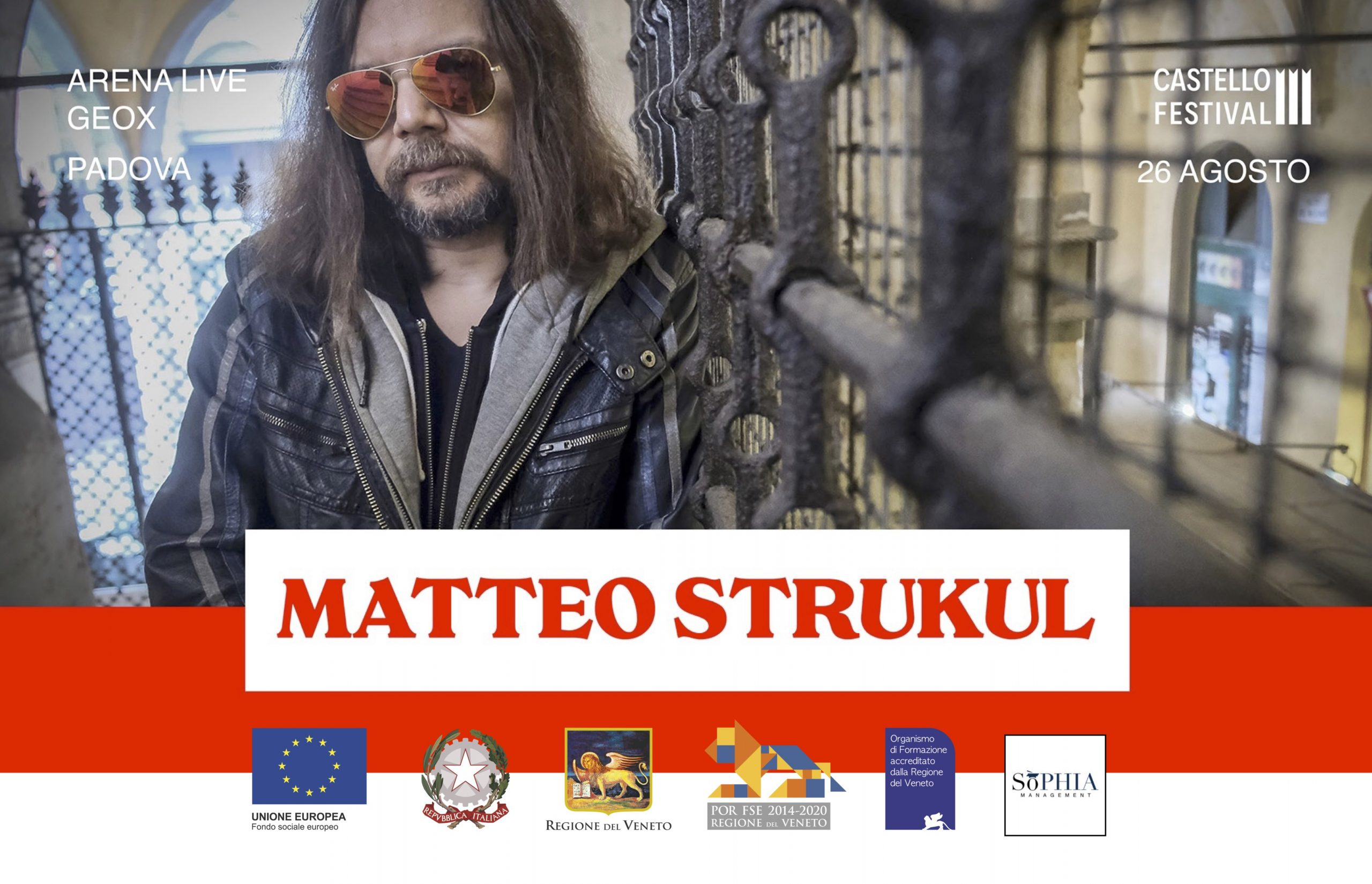 Dante Enigma, prima assoluto per il reading di Matteo Strukul con musiche di Maurizio Camardi e Ilaria Fantin giovedì 26 agosto al Castello Festival di Padova.