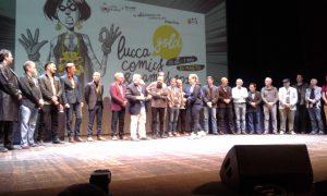 genovese saluti gli ospiti di Lucca Comics & Games