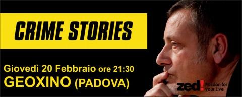Crime Stories, il nuovo show di Massimo Carlotto