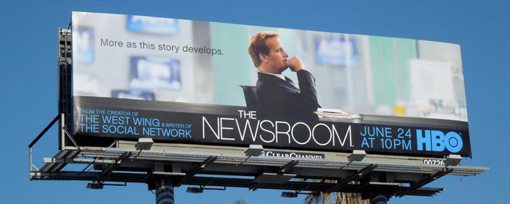 newsroom HBO billboard