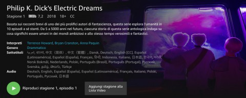 Philip K. Dick's Electric Dreams, la nuova serie di Amazon Prime Video