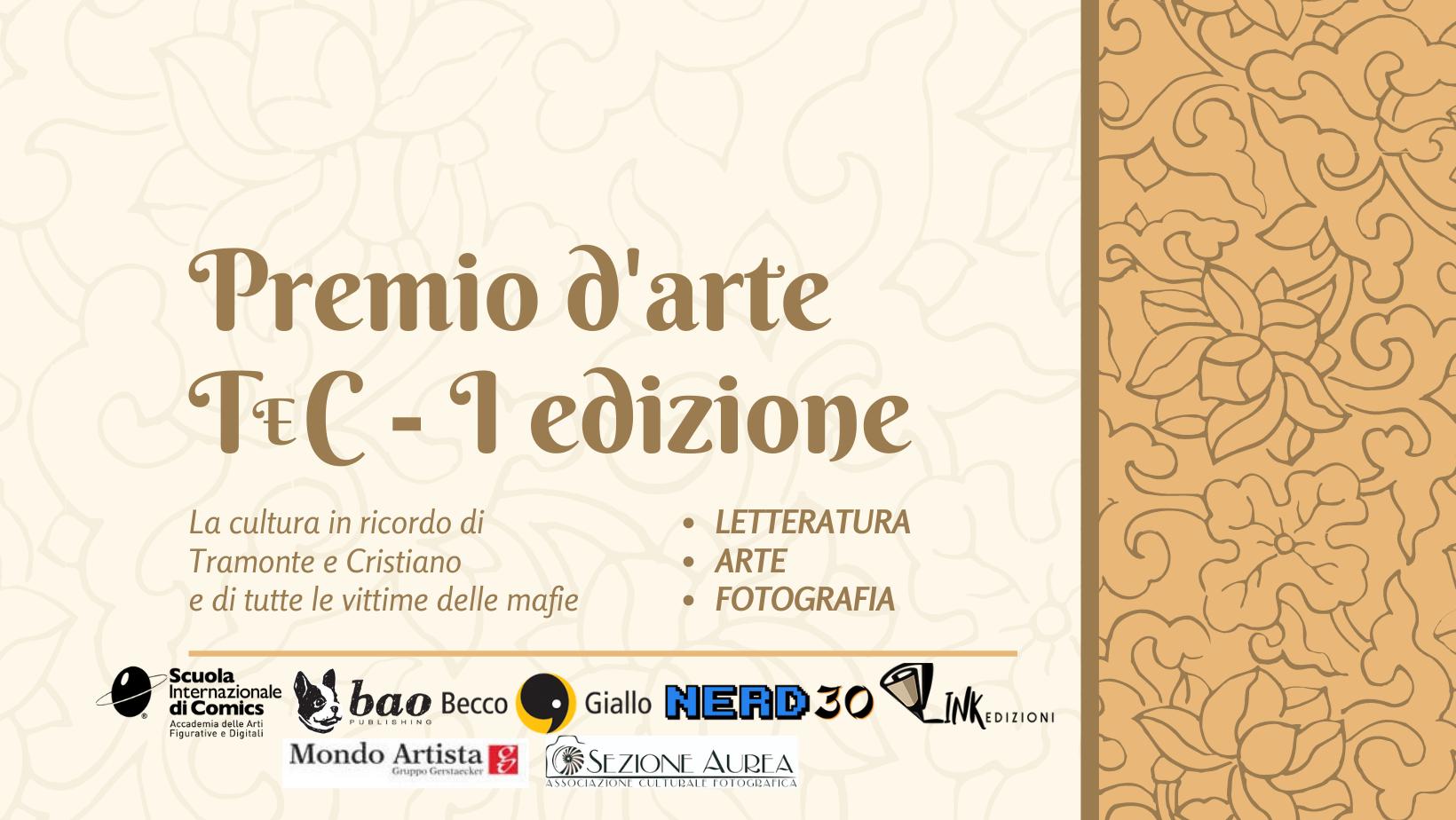 Premio TeC, al via la prima edizione con il supporto di Scuola Internazionale di Comics, Bao Publishing e Becco Giallo Edizioni.